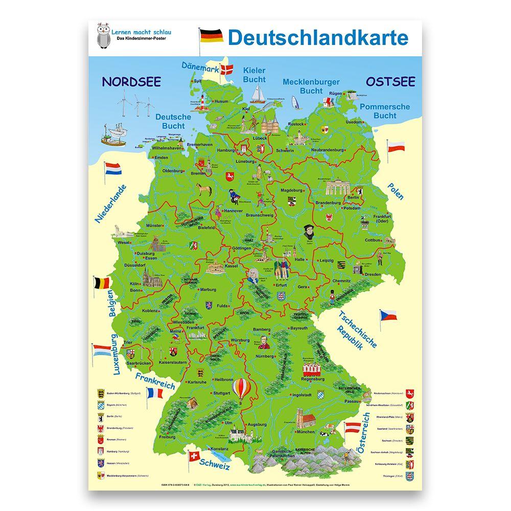 Landkarten Giant Xxl Poster Deutschlandkarte Amazon De