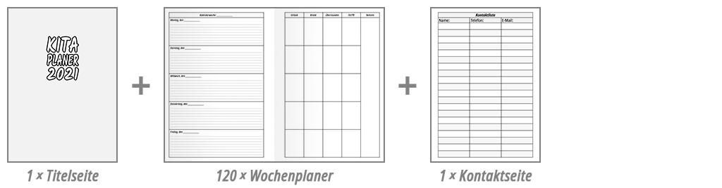 KiTa-Planer Wochenplaner Beispiel 2