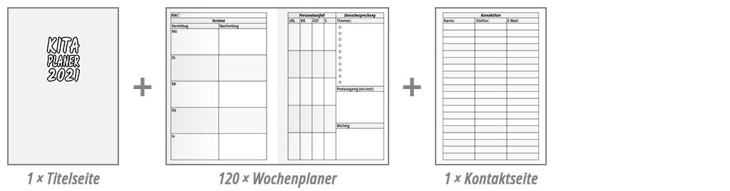KiTa-Planer Wochenplaner Beispiel 1